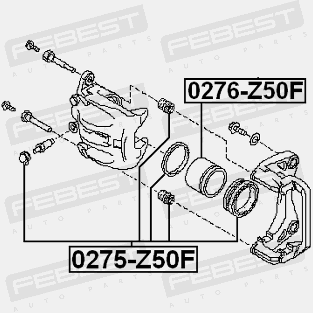 Cylinder Piston Front For Nissan Murano 2002 2007 Oem 41121 Ca000