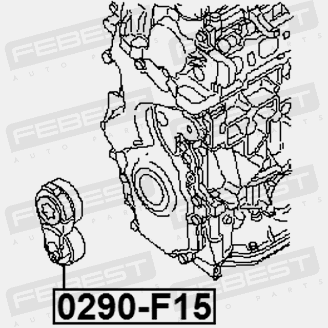 Tensioner Assembly Febest 0290 F15 4056111095530
