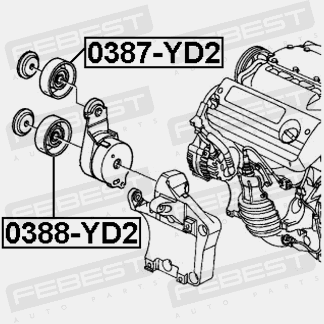 Pulley Tensioner For Acura Mdx 20072013 Oem 31180rcaa01: 2005 Acura Mdx Engine Diagram At Johnprice.co