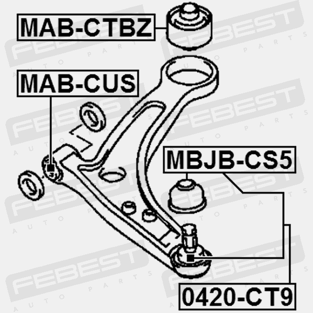 ball joint front lower arm for mitsubishi lancer 2000 2003 oem 2005 Mitsubishi Lancer Problems ball joint front lower arm for mitsubishi lancer 2000 2003 oem mr554813 febest