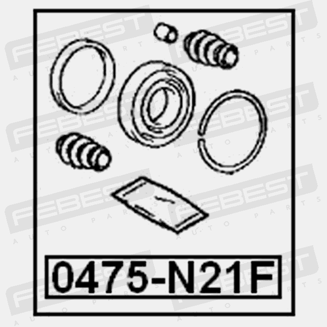 0475 N21f Febest Cylinder Kit For Mitsubishi Mb699175 4056111021140