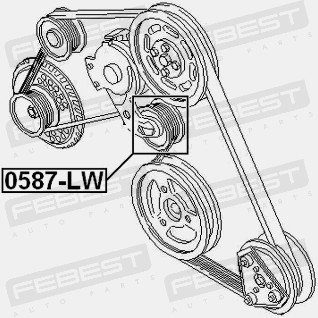 Pulley Tensioner For Ford Mondeo 1992 1996 Oem 3553187