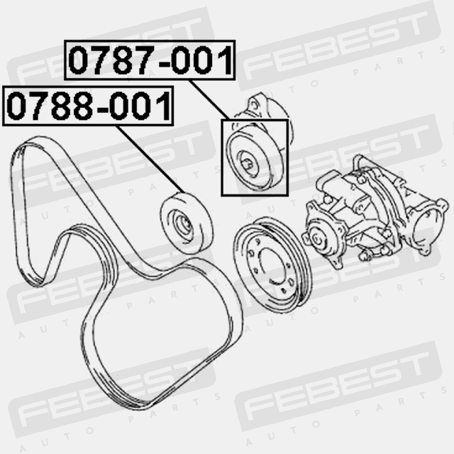 Pulley Tensioner Kit For Suzuki Baleno 1995 2001 Oem 17540 77e10