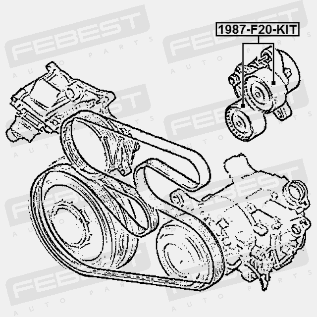 1987 F20 Kit Febest Pulley Tensioner Kit For Bmw 11287810807