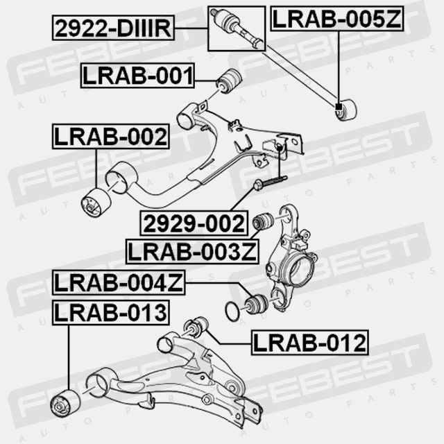 REAR TRANSVERSE LINK WITH BALL JOINT For Land Rover Range Rover Sport