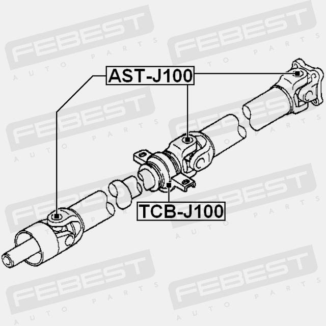 New Genuine FEBEST Propshaft Joint AST-J100 Top German Quality