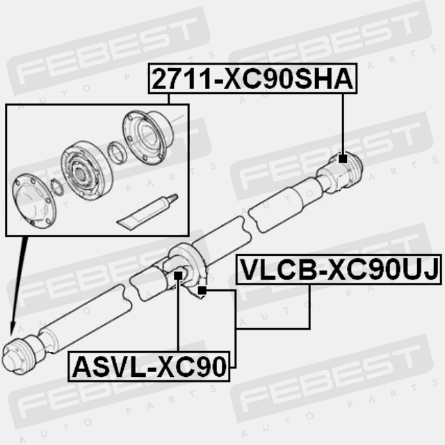 universal joint 24x62 for ford explorer 2011