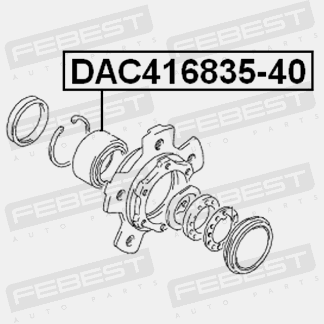 Dac416835 40 Febest Front Wheel Bearing 41x68x35x40 For Suzuki 43462