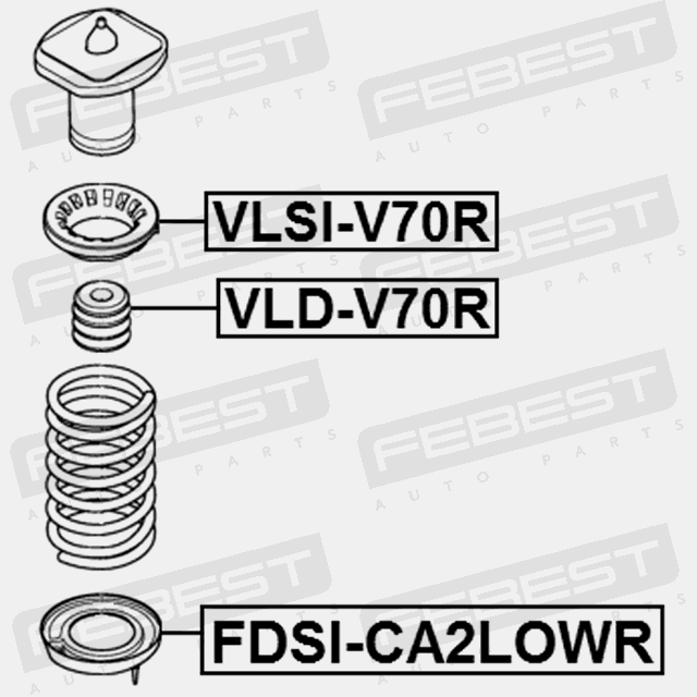 2007-2014 Lower Rear Suspension Spring Pad For Ford Mondeo Ca2