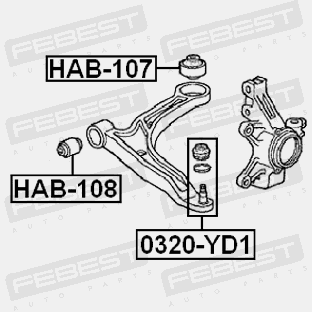 rear bushing front arm for acura mdx 2001 2006 oem 51393 s3v a01 ebay Mazda3 Rear Suspension rear bushing front arm for acura mdx 2001 2006 oem 51393 s3v