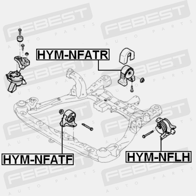 Left Engine Mount Hydro For Hyundai Sonata 20052010 Oem 21830: Hyundai Sonata 2003 Engine Diagram At Hrqsolutions.co
