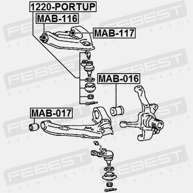 For Mitsubishi Mb598547 for Front Upper Control Arm Arm Bushing