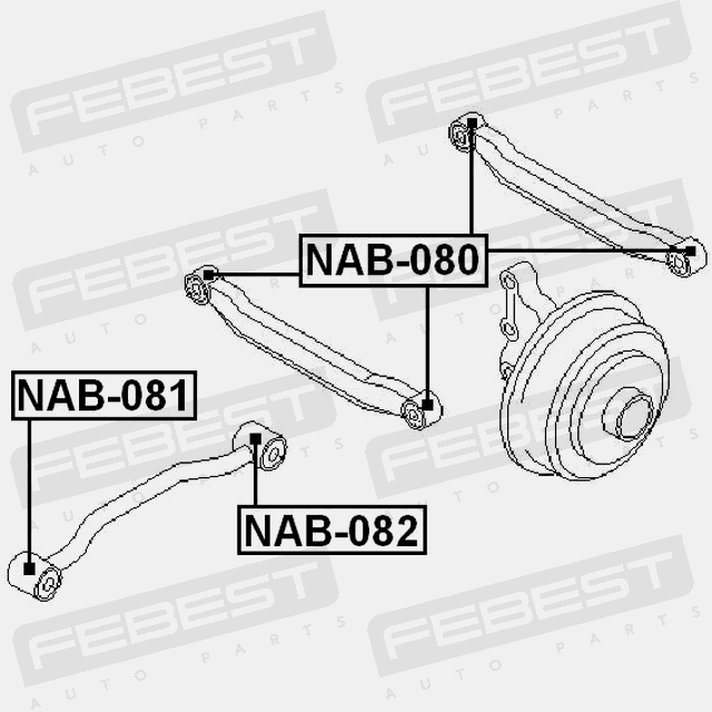 Rear Bushing For Lateral Control Arm For Nissan Primera 2001 2007