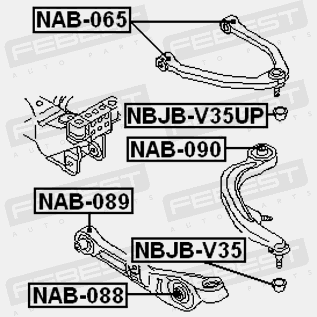 Bushing Front Lower Arm For Infiniti G35 2002 2007 Oem 54501 Am601