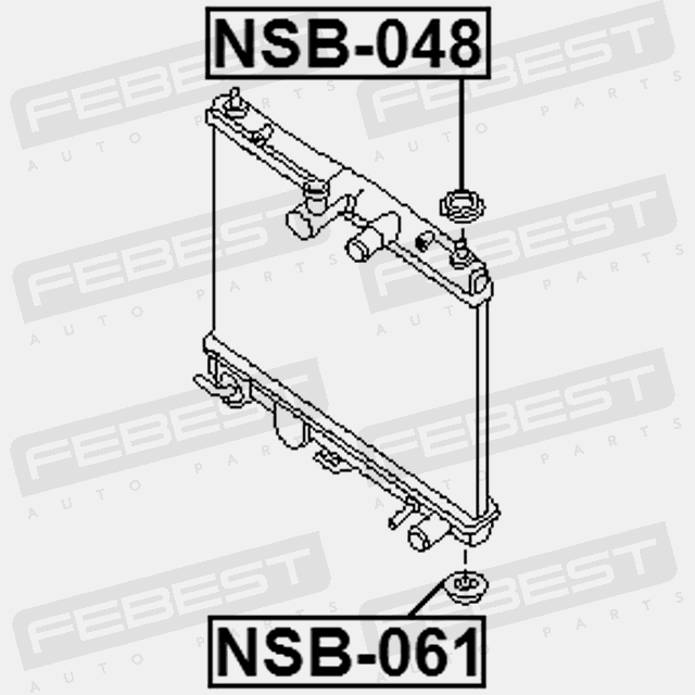 Mount Rubber Radiator For Nissan Juke 2010 Oem 21507ax600 Febest: 2010 Nissan Cube Engine Diagram At Hrqsolutions.co