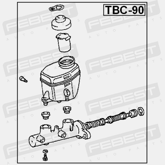 Tbc 90 Febest Master Brake Cylinder For Toyota 47201 60650