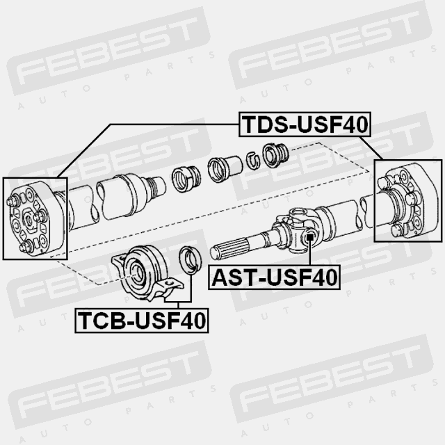 FEBEST TCB-USF40 Center Support Bearing