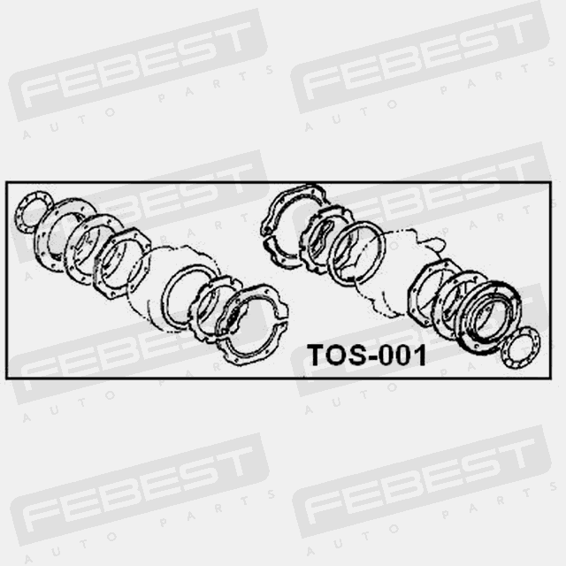 oil seal kit for front axle overhaul  febest tos