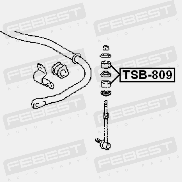 Tsb 809 Febest Bushing For Front Sway Bar For Toyota 48817 30020