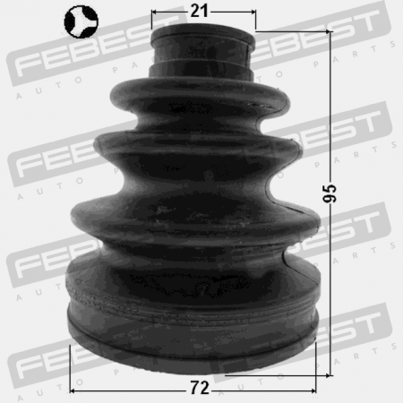 Boot Inner Cv Joint Kit 72X95X21 Febest 0115-1NZFE Oem 04437-52191