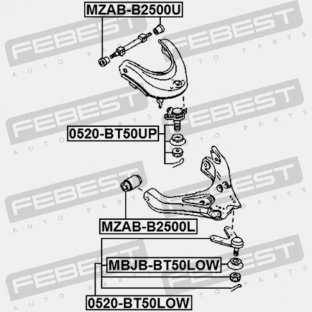 Genuine Ford Lower Ball Joint Frt Susp 1454902