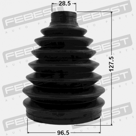 Fits NISSAN MURANO Z50 2002-2007 Boot Outer Cv Joint Kit 96.5X127.5X28.5