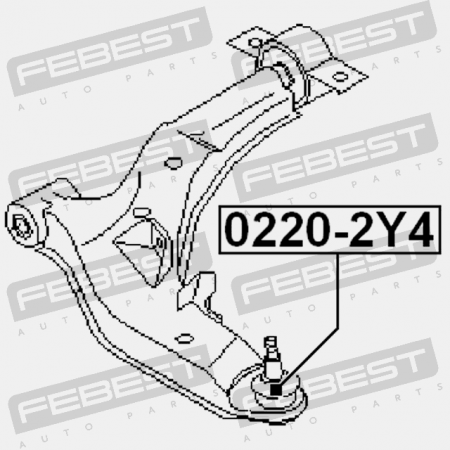 Ball Joint Front Lower Arm FEBEST 0220-P12 OEM 54500-AU010