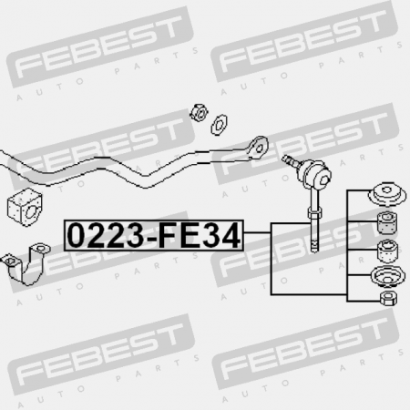 1999-2002 Front Stabilizer Sway Bar Link For Nissan Silvia S15