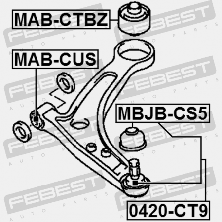 Ball Joint Front Lower Arm 0420 Ct9 on alfa romeo oem parts catalog