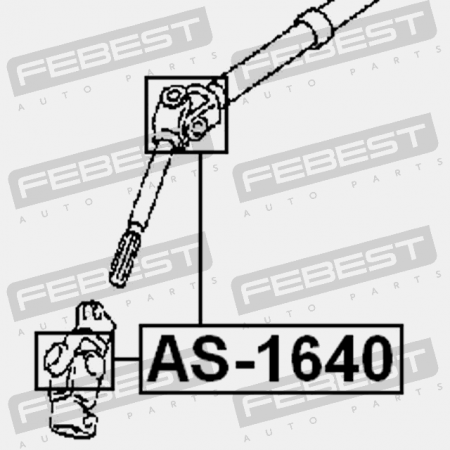 4405A130 D8080-JD90A AS-1640 Genuine Febest Universal Joint 16x40 45260-20220