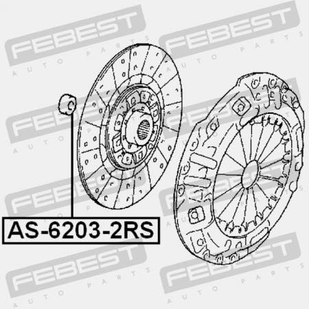Febest AS-6203-2RS ROULEMENT A BILLES 17X40X12