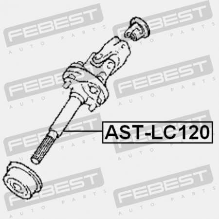 Steering Column Joint Assembly Upper Ast Lc120
