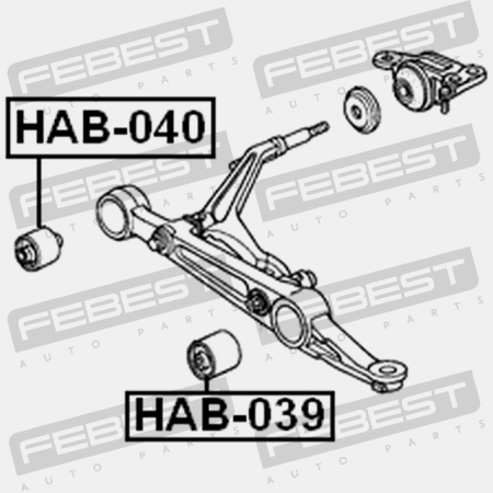 FEBEST HAB-040 Front Lower Control Arm Bushing