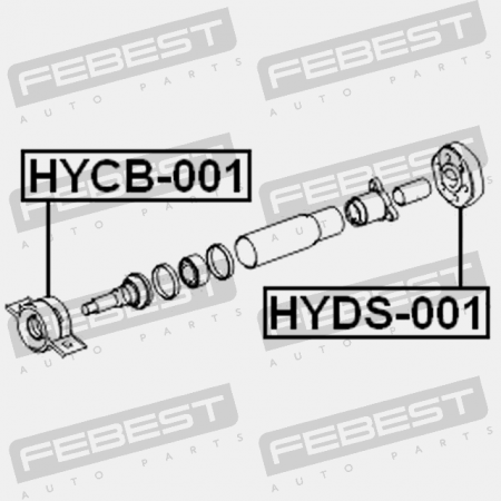 Coupling Kit Equipment Drive Shaft Hyds 001