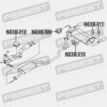 Febest 20621Ca000 Exhaust Pipe Support For Nissan