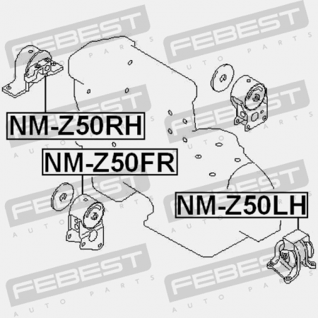 For Nissan Teana J31 Right Engine Mount 2003-2008 Hydro