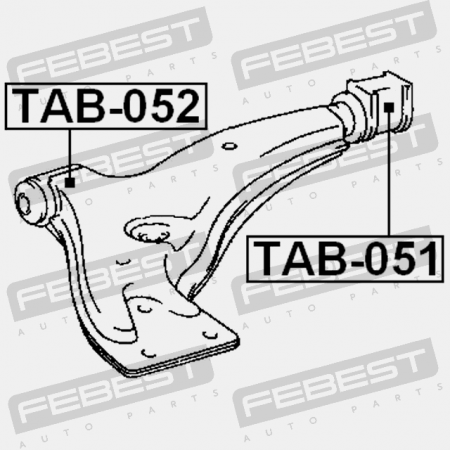Rear Arm Bushing Front Arm For Toyota Starlet Np80 1989-1998