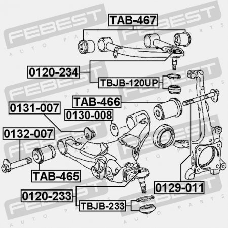 FEBEST TAB-466 Front Lower Arm Bushing