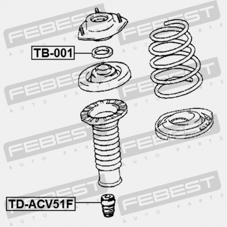 FRONT SHOCK ABSORBER BEARING FOR LEXUS RX400H 2005-2008 OEM 90903-63002