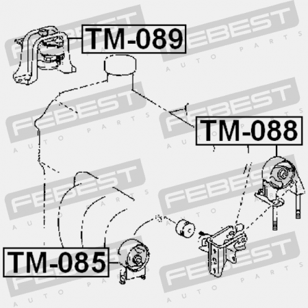 2003-2011 Left Engine Mount For Toyota Raum Ncz20